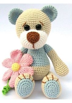 Mesmerizing Crochet an Amigurumi Rabbit Ideas. Lovely Crochet an Amigurumi Rabbit Ideas. Crochet Teddy, Crochet Bear, Crochet Patterns Amigurumi, Love Crochet, Amigurumi Doll, Crochet Dolls, Crochet Animals, Crocheting Patterns, Crochet Puff Flower