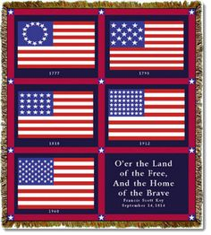 Share with your family on Flag Day--the different versions of the American flag