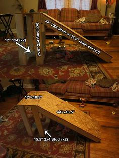 Pet stairs diy dog ramp house New Ideas Dog Ramp For Stairs, Dog Ramp For Bed, Pet Ramp, Pet Stairs, Dog Steps, Dog Furniture, Furniture Dolly, Furniture Stores, Furniture Design