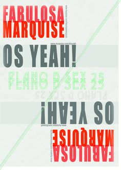 poster Os Yeah! e Fabulosa Marquise @ Plano B