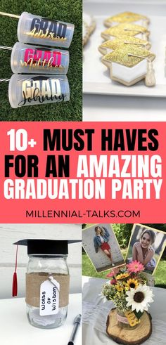 13 Graduation Party Ideas You Need To Try - Millennial Talks Graduation Party Desserts, A Little Party, Graduation Pictures, Dessert Bars, How To Take Photos, Make It Yourself, Blogging, Party Ideas, Decor Ideas