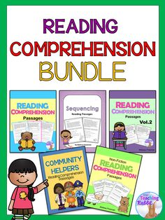 This Reading Comprehension Bundle contains 5 primary reading comprehension resources aimed at Grade 1 & 2 levels. You can purchase each resource separately or save $3.00 with this bundle!