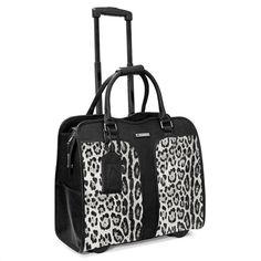 Cabrelli Safari Leopard Womens Rolling Laptop BAG Wheeled Case Carryon  Briefcase  8ef0f87b82db2