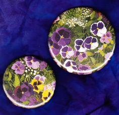 Purple Pansies - Scatter Pin Set