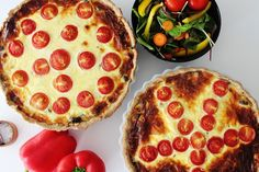 One Kitchen - A Thousand Ideas: Meat Pie With Red And Yellow Peppers