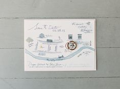 Illustrated New Orleans save the dates by Tupelo Honey Designs! Photo: Greer Gattuso / Event Planning & Design: Elyse Skansi of Tying the Knot Wedding Coordination