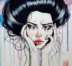 #ILLUSTRAZIONE Le illustrazioni di Harumi Hironaka ci mostrano le classiche cattive ragazze, problematiche insoddisfatte, arrabbiate... ma anche tremend... - Claudia De Luca - Google+