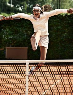 This gonna be me on the tennis court.... yeah still need a little practice