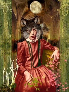 She cries with the wolves. These are the glittering dreams of Splash splash kisses. Digital Collage, Digital Art, Dream Baby, Daydream, Wolves, Kisses, Collages, Fairy Tales, Dreams