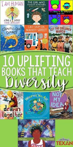 Teaching diversity, acceptance and inclusion is one of the most important things we can do for kids.  Here are 10 of my favorite books for teaching these ideas that are perfect for Black History Month, Inclusive Schools Week, or any time!
