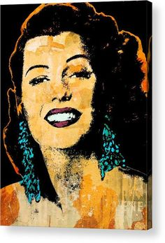 Rita Hayworth Acrylic Print featuring the mixed media La Dama De Trinidad 2 by Otis Porritt