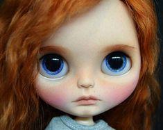 Ray,ooak custom takara blythe doll with red mohair reroot