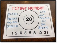 Number Talk Idea - Target Number