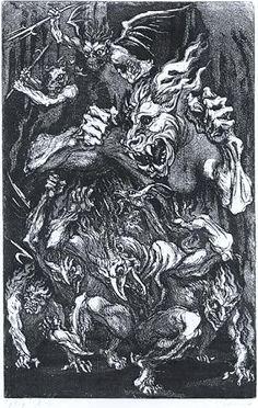 The Divine Comedy - Dante Alighieri Dante Alighieri, Dark Creatures, Dantes Inferno, Beloved Book, Bizarre, Ancient Aliens, Old Art, Dark Souls, Christian Art