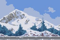 A parallax background for my portfolio. The idea and some of the design choices were inspired by Johan Aronson, mainly in the foreground rocks. Vaporwave, Pixel Art Background, Cool Pixel Art, Pix Art, Pixel Animation, 8 Bits, Pixel Art Games, Amazing Gifs, Gif Animé