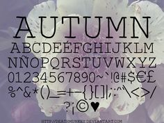 """Autumn Font   dafont.com  (Note the """"for personal use disclaimer"""")"""