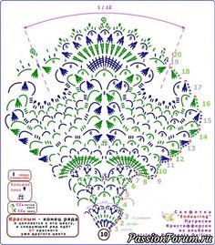 Crochet Doily Diagram, Crochet Stitches Patterns, Thread Crochet, Knit Or Crochet, Filet Crochet, Irish Crochet, Crochet Motif, Crochet Dollies, Crochet Potholders