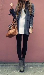 Upcoming Fall 2013 Style - gorgeous long coat and sweater with statement heels and neutral bag. on.fb.me/12OESvJ VanessaChamberlin... #Vasari #Fashion #Fall #Designer #Style