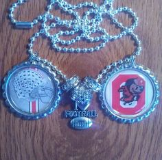 Ohio state bottle cap necklace by LegacySportsJewelry on Etsy