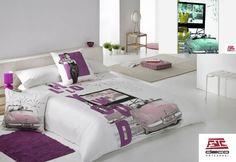 Funda nordica AUDREY, diseño juvenil y disponible en dos colores, tejidos de alta calidad. Proxima disponibilidad en www.decoartesanalfdc.com
