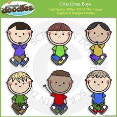 Criss CrossBoys Clip Art