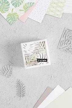 Eine Einladung zur Sommerparty in einer Box zum Aufklappen, welche mit der Stampin' Up! Produktreihe Traumhaft Tropisch gebastelt wurde   kreativ-format.de Stampin Up, Magic Box, Altenew, Favor Boxes, Paper Cards, Blog, Creations, Banner, Diy