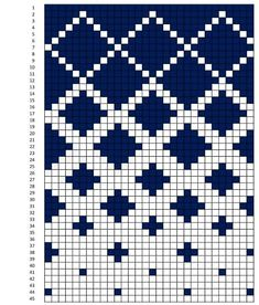 Option f r gekachelte Steppdecke - Stricken - f r gekachelte Option Step Knitting Charts, Knitting Stitches, Knitting Patterns, Knitting Machine, Free Knitting, Tapestry Crochet Patterns, Quilt Patterns, Ethnic Patterns, Loom Patterns