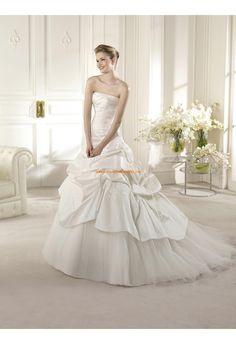 Robe de mariée 2014 taffetas tulle application avec lacets