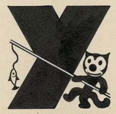 Francisco López Rubio, 1933-36, 'Gente Menuda', Letter #Y #Black #Cat