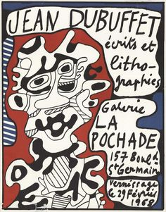 Artist Name: Dubuffet, Jean Title: Ecrits et Lithographies, Galerie La Pochade Medium: Lithograph  Edition Size: Unknown Year: 1968 Paper Size: 24.5 x 19.5 inches Image Size: 24.5 x 19.5 inches Condition: D: Heavy signs of wear, Torn, Damaged.  SOLD AS IS. Price Reflects Condition.
