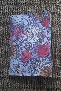 A6 notebook  floral design  plain paper  great for by KELLEERICH, £4.00 #notebook #handmade #illustrated