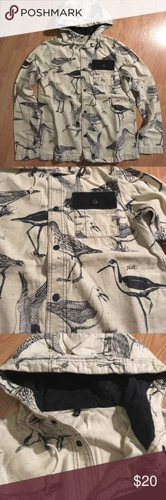 Vans Bird Jacket Super unique and rare Vans light Jacket with different types of birds on it! Worn a couple of times, but in great condition. Vans Jackets & Coats