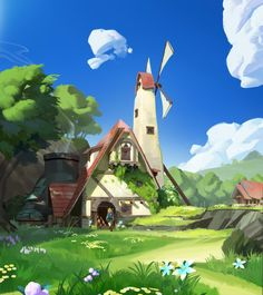 Link's House - Creative Exercise by Eric Dagley The Legend Of Zelda, Legend Of Zelda Breath, Environment Concept Art, Environment Design, Creativity Exercises, Link Zelda, Breath Of The Wild, Environmental Art, Game Art