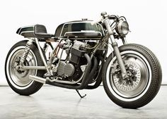 Honda CB750 customized by Danish collective Wrenchmonkees. Posted on JamesList blog site
