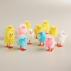 One of my favorite discoveries at WorldMarket.com: 6-Piece Boxed Fabric Chicks,  Set of 2