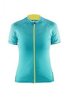 CRAFT GLOW damska koszulka rowerowa 1903265-2305 - ODZIEŻ ROWEROWA Zielony - MikeSport.pl