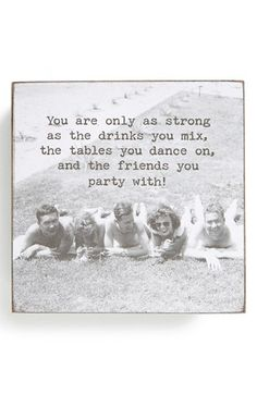 Trash Talk by Annie 'As Strong as the Drinks You Mix' Box Sign available at #Nordstrom