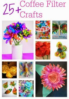 Re-purpose those coffee filters you have lying around with these clever and creative crafts and ideas for kids! (via Blessed Beyond a Doubt)