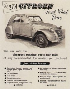 pub 2 cv - Page 3 Citroen Ds, Psa Peugeot Citroen, Transport Images, Car Posters, Car Advertising, Volkswagen, Small Cars, Vintage Trucks, Old Cars
