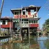 A vida dentro e ao redor do Lago Inle é intensa! Pessoas vivem do trabalho manual, do cultivo flutuante de hortaliças, da pesca e há pouco tempo do turismo. São cerca de 70 mil pessoas que moram nos arredores que compreendem 4 pequenas cidades. As casas são construídas sobre o lago. De madeira, fibra de bambu ou até de telhas, elas são grandes e bem estruturaras. Ficam no alto agora na época de maré baixa, mas o nível do lago muda na estação das chuvas. Tive a honra de ser convidada por uma…