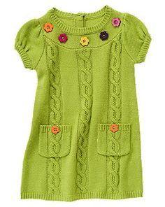 Flower Swtr Vest ~Cute With Leggings - Diy Crafts - hadido Diy Crochet Sweater, Knit Baby Sweaters, Girls Sweaters, Diy Crafts Dress, Diy Dress, Sweater Set, Knit Sweater Dress, Sweater Dresses, Knitting For Kids