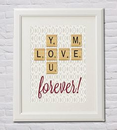 You and Me LOVE Forever... In Scrabble Tiles  by FourHappyFaces, $8.00