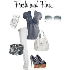 Sky.. by gagisha on Polyvore featuring moda, Wet Seal, PRPS, Carvela, GUESS, VIcenza, Pedre and Gucci