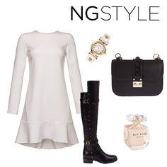 Siyah- beyazdan vazgeçemeyenlere… #ngstyle beyaz elbise ile bu hafta sonu hem rahat hem de şık hissedeceksiniz.  #moda #trend #fashion #ngstyle #fall #winter