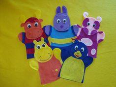 Backyardigans- felt hand puppets. $24.99, via Etsy.