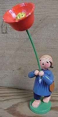 AGU38 EXPERTIC ERZGEBIRGE FLOWER BLOSSOM CHILD W & K WENDT & KUHN GERMAN GDR DDR   eBay