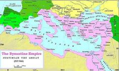 This is a map of the Byzantine Empire in the 6th century. Modern day countries that are part in that area: Greece, Turkey, Egypt, and Italy
