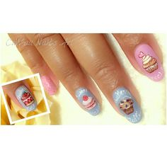 Dessert time. Haha. Draw someting fun on my nail for my special month