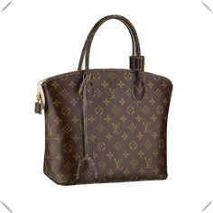 """* Patent Monogram canvas covering handles, padlock and key bell * Refined resin zip puller * Ivory stitching threads and edge-dying. * Hand carry * Interior zipped pocket  Description: Celebrate iconic Louis Vuitton style with the Lockit. Glossy and glamorous Monogram Fetish canvas adorns its timeless curves, while a refined matt goatskin lining completes its sophisticated look.  Material: Monogram Canvas Fuction: Fashion Show Collections Model: M40597 Color: Brown Size13.8"""" x 15.3"""" x 6.3"""