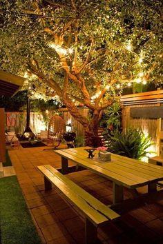 Backyard Garden Design, Small Backyard Landscaping, Landscaping Ideas, Backyard Pools, Backyard House, Garden Art, Small Patio, Mulch Landscaping, Backyard Seating